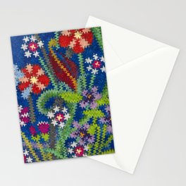 Starry Floral Felted Wool, Blue Stationery Cards