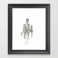 animalia cat Framed Art Print
