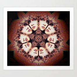 Witchy Woman // Stevie Nicks Vintage Witch Goddess Magical Star Pentacle Pentagram Mandala Art Print