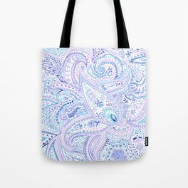 Painted paisley Tote Bag