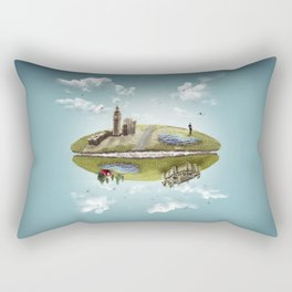 """Merlin- """"Two Sides of the Same Coin"""" Rectangular Pillow"""