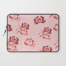 Blush Peonies Watercolor Laptop Sleeve