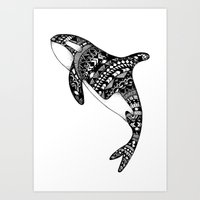 killer whale Art Prints featuring Killer Whale by Emma Barker