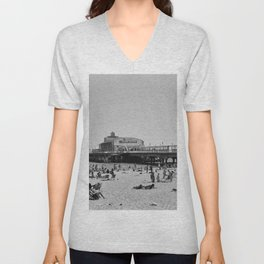 Bournemouth Pier - Summer In England Unisex V-Neck