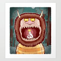 wild things Art Prints featuring Wild Things. by BTillustration
