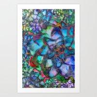 succulent Art Prints featuring Succulent by Klara Acel