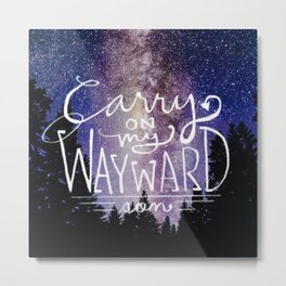 supernatural carry on my wayward son Metal Print