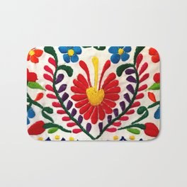 Red Mexican Flower Bath Mat
