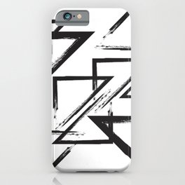 abstract geometry triangles iPhone Case