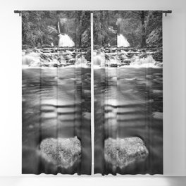 Wild river with waterfalls in the forest Blackout Curtain