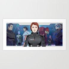 Mass Effect : SR-1 Squad Members Art Print