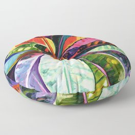 Kauai Croton Leaves Floor Pillow