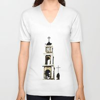 israel V-neck T-shirts featuring St. Peter's Church, Jaffa, Israel by Philippe Gerber