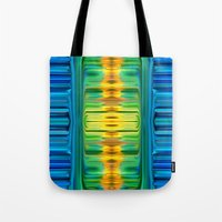 waterfall Tote Bags featuring Waterfall by Bruce Stanfield