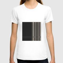 Modern Black Ribbon Pattern Design T-shirt