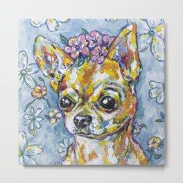 Fri the Chihuahua  Metal Print