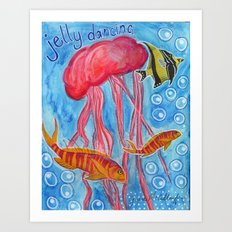 Jelly Fish Art Print