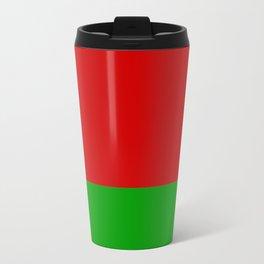 flag of belarus-belarusian,Minsk,Homyel,russia,snow,cold,chess,bear,rus,wheat,europe,easthern europe Travel Mug