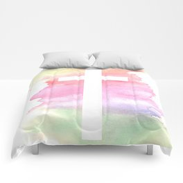 Cross- Landscape / Sunset Comforters