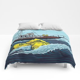 Jaws: Orca Illustration Comforters