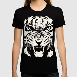 White Tiger Vector T-shirt