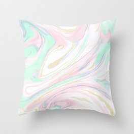Classy marbleized abstract design Throw Pillow
