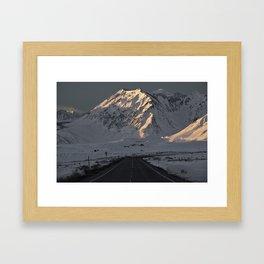 Snowy Mammoth Mountain Framed Art Print