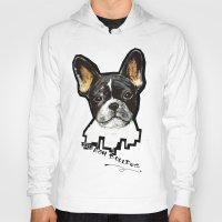 french bulldog Hoodies featuring French Bulldog by Det Tidkun