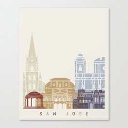 San Jose CR skyline poster Canvas Print