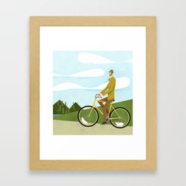 Road Cycling With Rodent Power Poster Framed Art Print