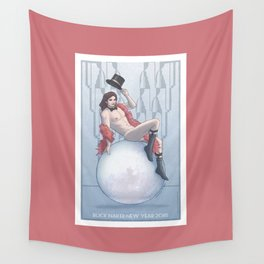 Buck Naked New Year 2018 Wall Tapestry