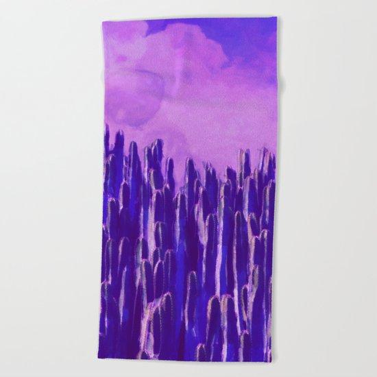 Cacti landscape Beach Towel
