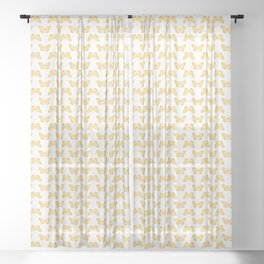 Monarch Butterfly Bright Yellow Sheer Curtain