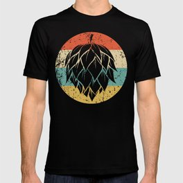 Hops Retro Style Craft Beer T-shirt