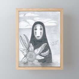 No Face Framed Mini Art Print