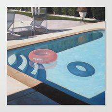 Pink Pool Inner Tube Canvas Print