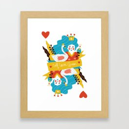 Self love queen Framed Art Print
