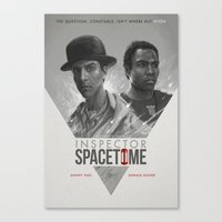 boy Canvas Prints featuring Inspector Spacetime  by Sam Spratt