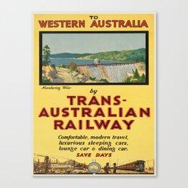 Vintage poster - Western Australia Canvas Print