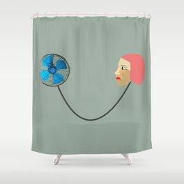 woman fan Shower Curtain
