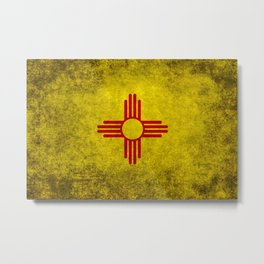 Flag of New Mexico - vintage retro style Metal Print