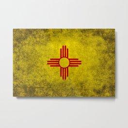 Flag of New Mexico - vintage retro style Metal Print