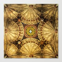 kaleidoscope Canvas Prints featuring Kaleidoscope by Irina Chuckowree