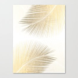 Palm leaf synchronicity - gold Canvas Print