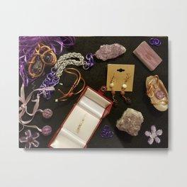 Purple Panel collection Metal Print