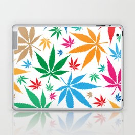 marijuana leaf color pattern Laptop & iPad Skin