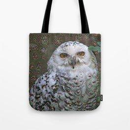 Dream Creatures, Snowy Owl, DeepDream Tote Bag