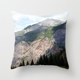 View from the Road to Red Mountain Pass Throw Pillow