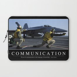 Communication: Inspirational Quote and Motivational Poster Laptop Sleeve