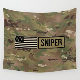 Military: Sniper (Camo) Wall Tapestry